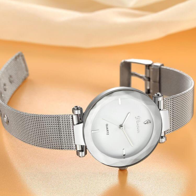 Best Sell Women Geneva Fashion Classic Luxury Stainless Steel Analog Quartz WristWatches