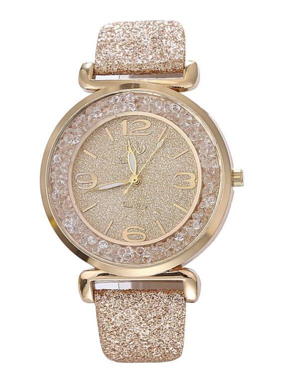 Women Luxury Crystal Rhinestone Stainless Steel Quartz WristWatches