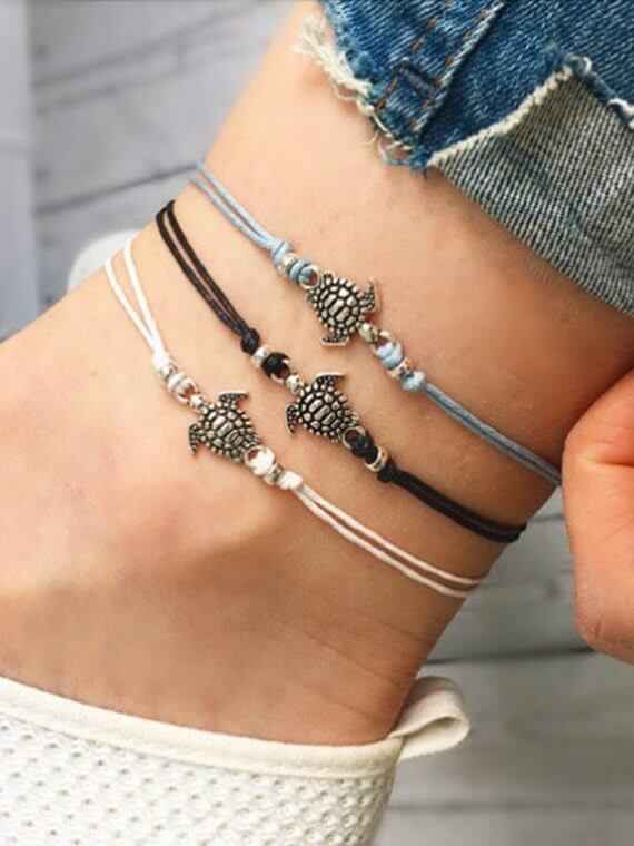 Bohemian Retro Turtle Rope Anklet Sexy Beach Bracelets Chain