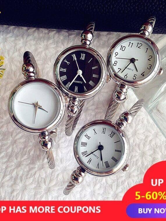 Luxury Steel Band Pointer Elegant Quartz Wristwatches