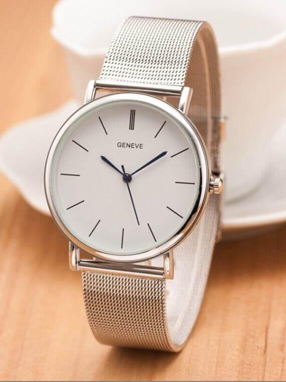 Luxury Women Metal Mesh Casual Quartz Watch