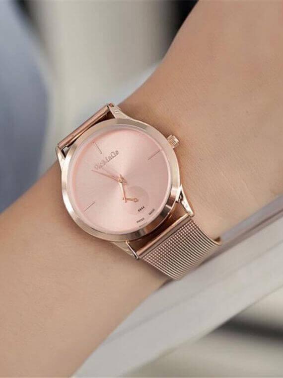 Alloy Belt Mesh Unisex women's watches