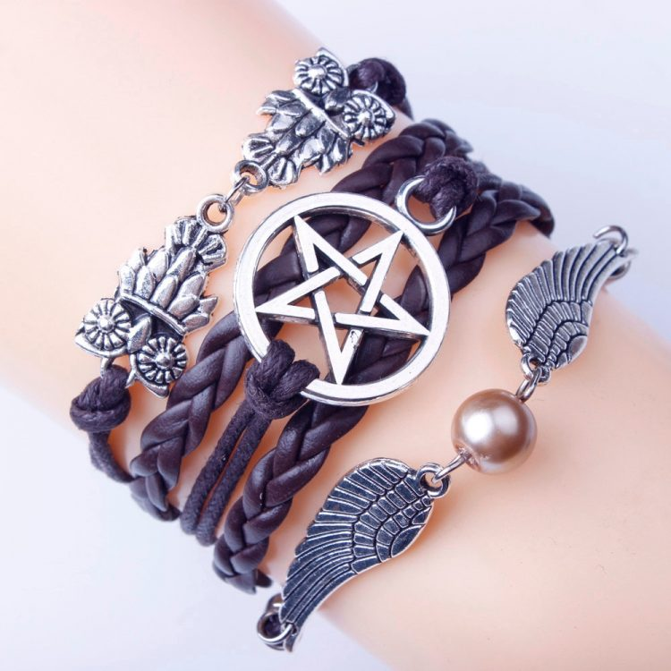 Gofuly Bracelet Retro Women Wings Bracelet