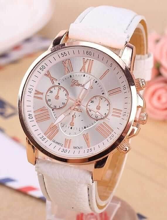 Luxury Brand Leather Quartz Wristwatches relogio feminino masculino