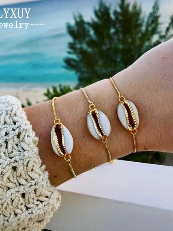 New-Fashion-Style-Wholesale-gold-color-shell-bracelet-in-fashionable-chain-bracelet-for-women-B0042.jpg