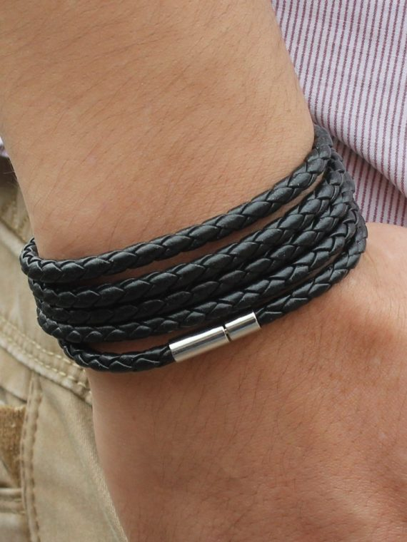 New-Style-2018-Latest-Popular-5-Laps-Leather-Bracelet-For-Men-Charm-Vintage-Black-Bracelet-Free-6.jpg